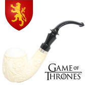 Meerschaum  - Hand Carved Game of Thrones Pipe - House of Lannister