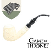 Meerschaum  - Hand Carved Game of Thrones Pipe - House of Stark