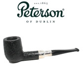 Peterson - Black Sandblast Spigot - 106 - Sterling Silver - 9mm Filter
