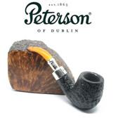 RARE - Peterson 69 - Sandblast Spigot with REAL Amber Stem