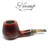 Neerup - Classic Series -  Gr 2 Semi Bent Brandy Pipe (Sandblast) 9mm