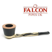 Falcon - Gold Plated Shillelagh Pipe Set with 2 x  Bowls #2