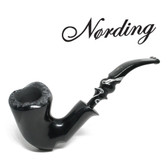 Erik Nørding - Freehand Black Smooth - Marble Mouthpiece (1)