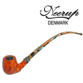 Neerup - Classic Series -  Gr  2 Churchwarden Pipe 1 (Sandblast) 9mm