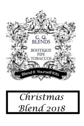 "GQ Blends - ""Blend it Yourself Kit"" - Christmas Blend 2018 -  50g"