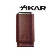 Xikar - Envoy Triple Cigar Case - Brown / Cognac