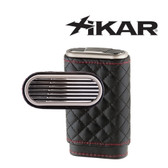 Xikar - Envoy Triple Cigar Case - High Performance Quilted Black