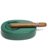 Ceramic - Single Cigar Ashtray - Emerald Green