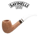Savinelli -  Cocco Rusticated Natural  Pipe - 670 - 6mm Filter