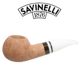 Savinelli -  Cocco Rusticated Natural  Pipe - 320 - 6mm Filter