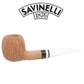 Savinelli -  Cocco Rusticated Natural  Pipe - 207 - 6mm Filter