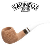 Savinelli -  Cocco Rusticated Natural  Pipe - 626 - 6mm Filter