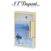 S.T. Dupont - Claude Monet - Blue Natural Lacquer & Yellow Gold Ligne 2 (Line 2) Pipe Lighter