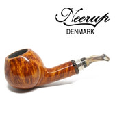 Neerup - Classic  Series -  Gr 4 Semi Bent Apple Pipe  (Smooth) 9mm