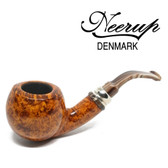 Neerup - Classic  Series -  Gr 4 Bent Apple Pipe  (Smooth) 9mm