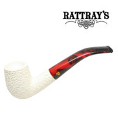 Rattrays - White Goddess -  Meerschaum Carved 3 - 9mm Filter Pipe