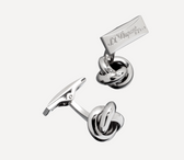 S.T. Dupont - Cufflinks - Ball of Wool - Palladium