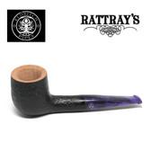 Rattrays - Fudge -  5 Sandblast Black - 9mm Filter Pipe