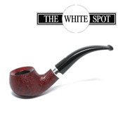 Alfred Dunhill - Ruby Bark - 2 113  - Group 2 - Bent Apple - White Spot - Silver Band