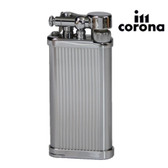 IM Corona - Old Boy Chrome Stripes  Pipe Lighter (64-3306)