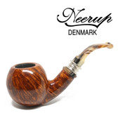 Neerup - Classic Series -  Gr 3 Bent Apple Pipe (Smooth) 9mm