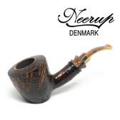 Neerup - Classic  Series -  Gr 2 Bent Dublin Sitter  Pipe  (Sandblast) 9mm
