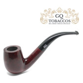 GQ Tobaccos - Auburn Briar - Bent Billiard Pipe