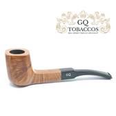 GQ Tobaccos - Cognac Briar - Panelled (Semi Bent)  Pipe