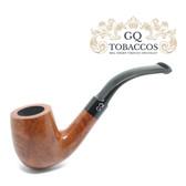 GQ Tobaccos - Tawny Briar - Bent Billiard Pipe (Saddle Stem)