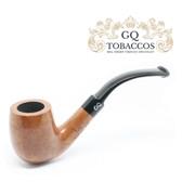 GQ Tobaccos - Cognac Briar - Bent Billiard  Pipe