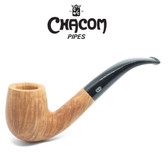 Chacom - Selected Straight Grain - Natural - Bent Billiard  Pipe