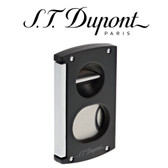 S.T. Dupont - Double Blade S & V Cigar Cutter - Black & Chrome
