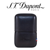 ST Dupont - Black Leather Lighter Case - For Ligne 2