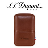 ST Dupont - Brown Leather Lighter Case - For Ligne 2