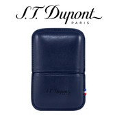 ST Dupont - Blue Leather Lighter Case - For Ligne 2