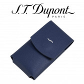 ST Dupont - Slim 7 Leather Lighter Case - Blue