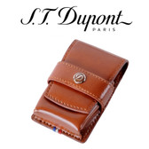 ST Dupont - Line D Lighter Case - Brown Leather - For Ligne 2