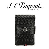 ST Dupont - Line D Leather Lighter Case - Black Fire Head - For Ligne 2