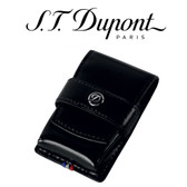ST Dupont - Line D Lighter Case - Black Leather - For Ligne 2