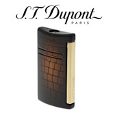 S.T. Dupont - Dandy MaxiJet - Sunburst Brown Croc Effect