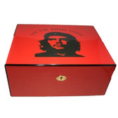 Che Humidor - High Gloss Red - Holds 50 Cigars