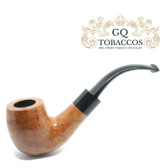 GQ Tobaccos - Virgin Briar - Bent Billiard Saddle Stem Pipe