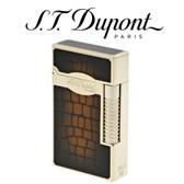 S.T. Dupont - Dandy Le Grand - Sunburst Brown & Yellow Gold Croc Effect