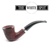 Alfred Dunhill - Ruby Bark - 4  114 - Group 4 - Bent Dublin - White Spot - Silver Band