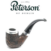 Peterson - D18 - Sandblast  - Silver Cap - Fishtail - 9mm Filter