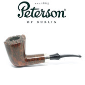 Peterson - Plato - Freehand  - Fishtail - Silver Band - 9mm Filter Pipe