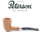 Peterson - Natural - D17 - Sterling Silver Band Army Mount Pipe