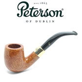 Peterson - Gold Mounted 65 - Natural Straight Grain Pipe