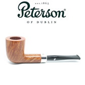 Peterson - Natural - 120 - Sterling Silver Band Army Mount Pipe