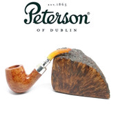 RARE - Peterson 69 - Natural Spigot with REAL Amber Stem